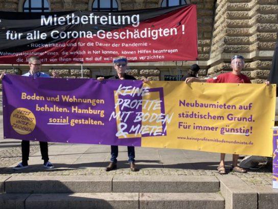 Presseaktion 7.8.20 vor dem Hamburger Rathaus